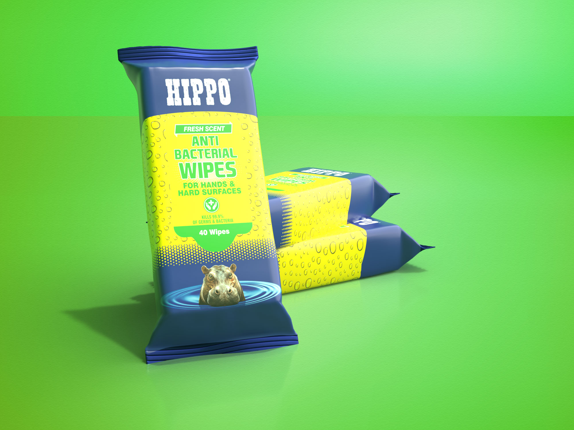 Hippo Anti-Bacterial Wipes