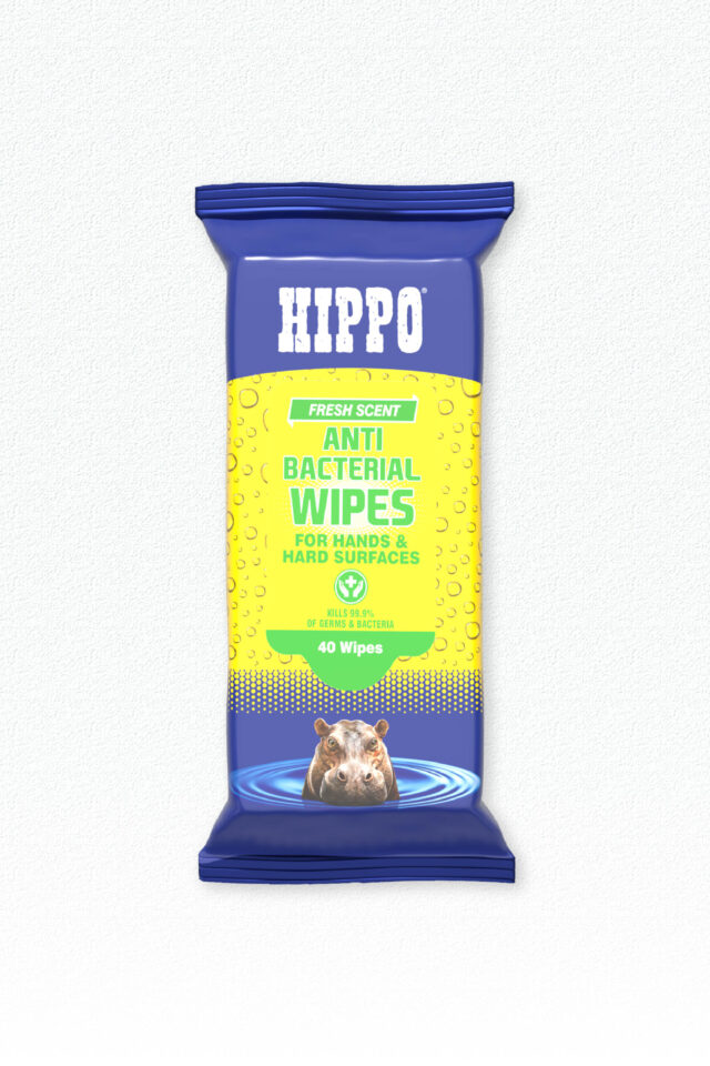 Hippo Anti Bacterial Wipes - Pack of 40